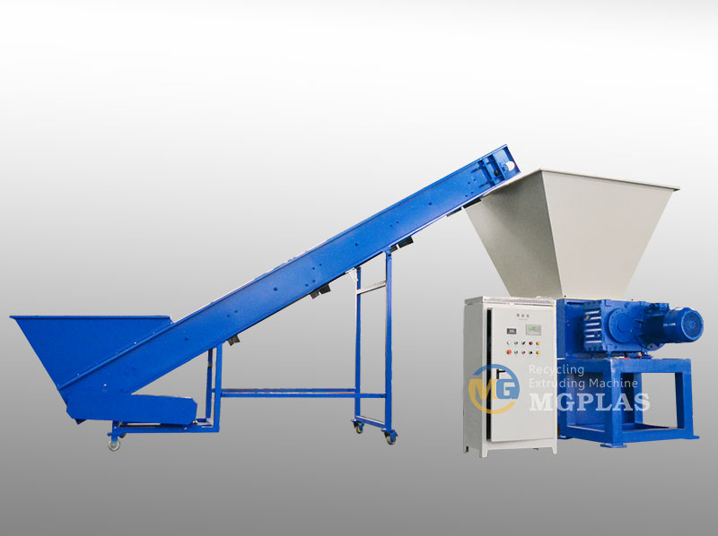 Large Capacity Twin Shaft Plastic Dustbin Shredder Machine