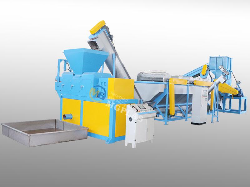 High Quliaty Plastic PP PE Film Washing Line With Plastic Squeezer Dryer