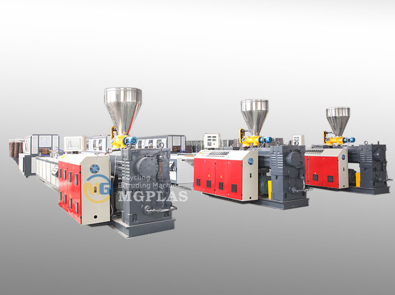 High Automation WPC Profile Extrusion Line For WPC Deckings