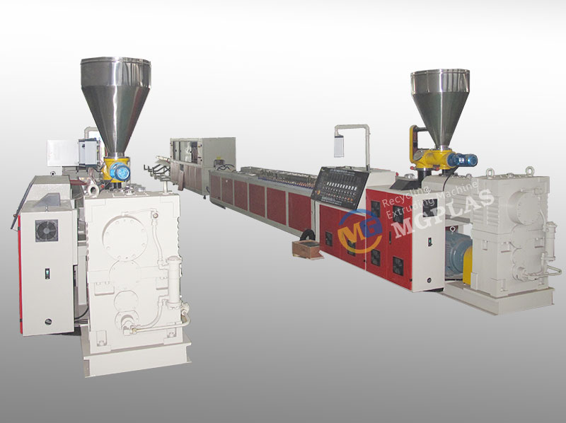 Good Quality HDPE Plus Wood WPC Extrusion Machine At Low Price