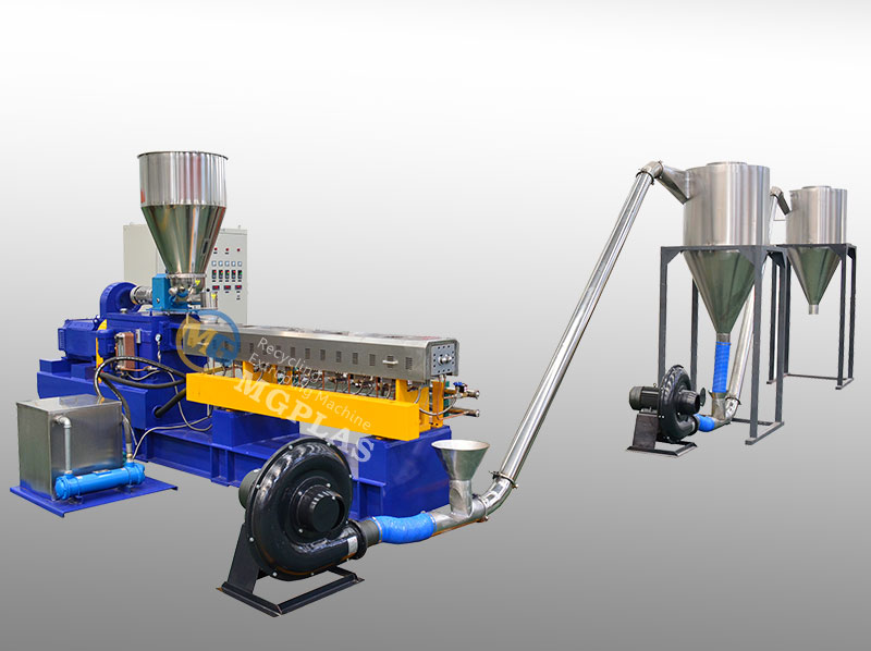 Hot Sale Parallel Twin Screw Extruder HDPE WPC Granulation Line