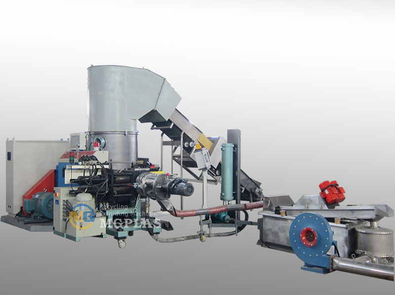 Big Capacity Water Ring Type PP PE Film Granulation Machine