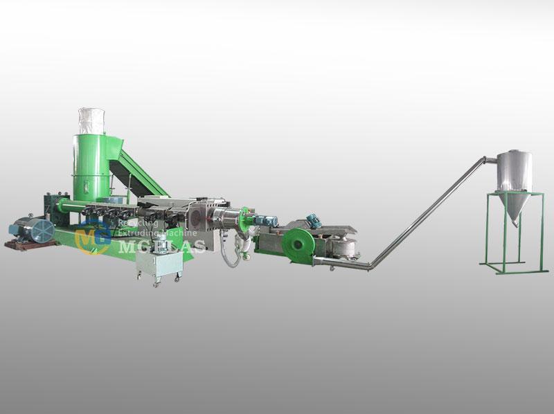 Automatic Single Stage Water Ring Pelletizing Plastic Film Granulating Line