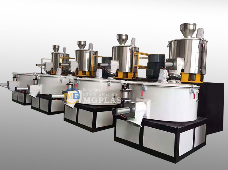 Efficienct Vertical Heating And Cooling Plastic Mixer Machine