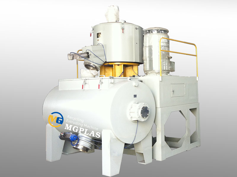 Good Quality Horizontal Heating And Cooling Plastic Mixer Machine