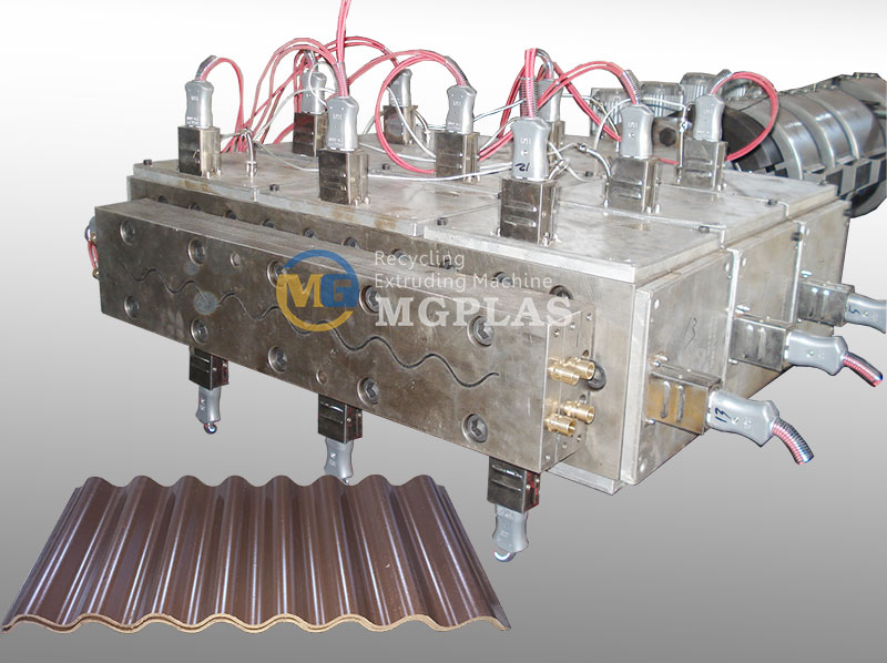 CE Approved WPC Profile Extrusion Mould For WPC Corrugated Roof Tile