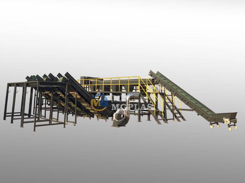 Efficient Plastic Waste Sorting Plant
