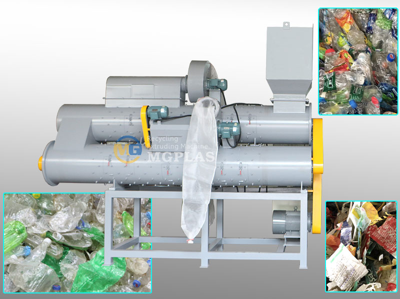 High Quality 3 Barrel PET Bottle Label Removing Machine