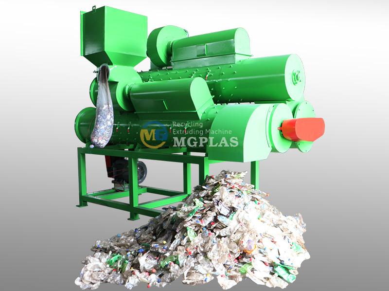 Popular 3 Shaft PET Plastic Bottle Label Removing Machine
