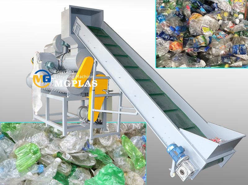 High Quality 3 barrel Plastic Bottle Label Remover Machine