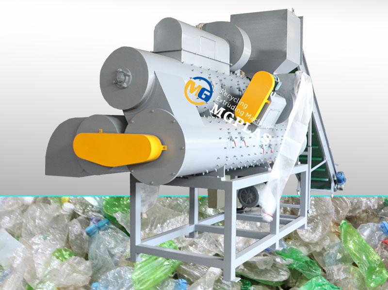 High Quality 3 Barrel Plastic PET Bottle Label Separator Machine