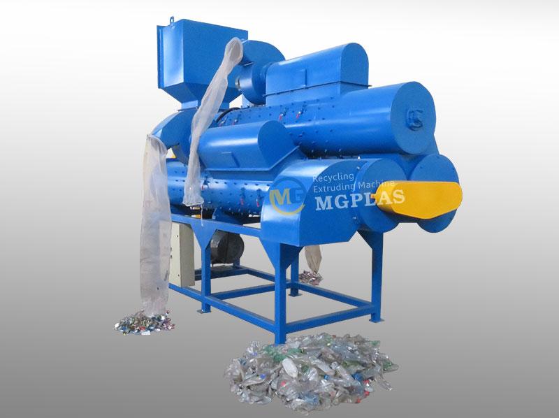 Big Capacity Plastic Bottle 3 Barrel Label Remover Machine