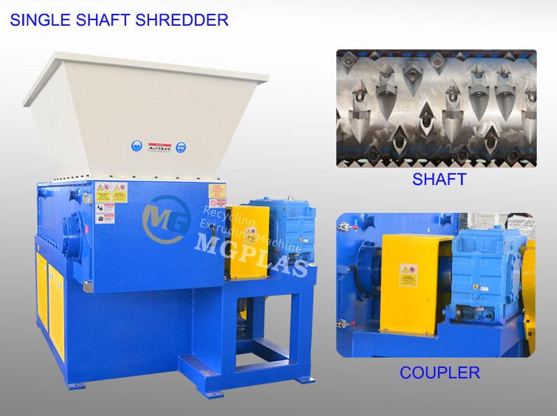 Coupler Type Single Shaft Shredder Machine